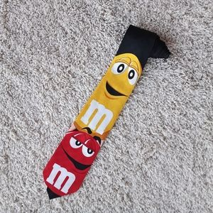 3/$30 Mars Candy M&M Red Yellow Character Tie OS